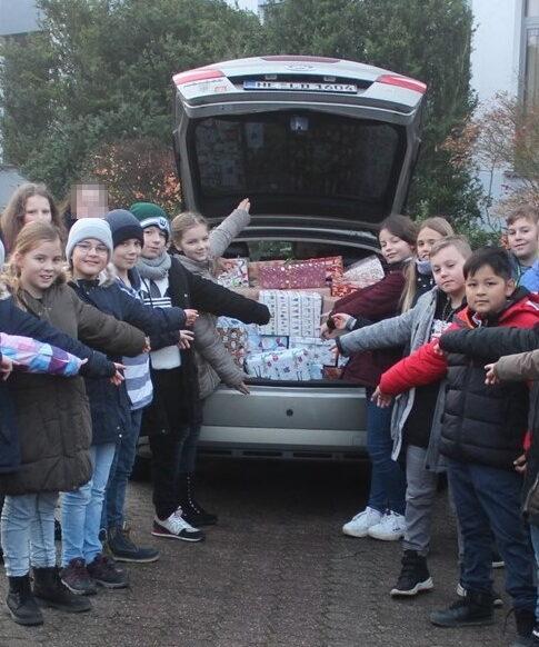 Weihnachtspäckchen-Aktion am THG ein voller Erfolg