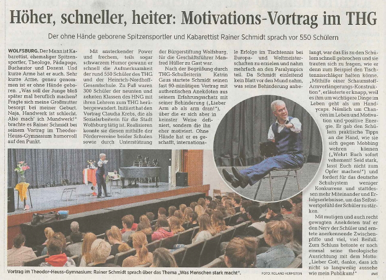 Motivationsvortrag von Rainer Schmidt