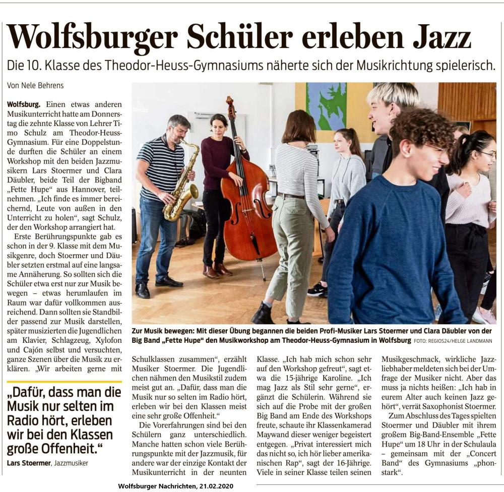 """""""Into Jazz""""-Workshop mit der """"Fetten Hupe"""""""